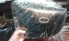 borsa DONNA in CUOIO PELLE NERA  CON Tracolla Artigianale bag 30x20 L7CM