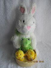 Hallmark Easter Spring Quartet Animated Singing Bunny Rabbit with Frog & Chicks