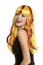 Wig Ladies Fan wig Germany Black Red Gold long wavy WORLD CUP EURO CHAMPS