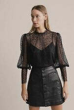 Witchery Lace High Neck Blouse [6] NWT RRP$150