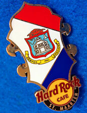 ST MAARTEN CORE HEADSTOCK SERIES ST MAARTEN COAT OF ARMS FLAG Hard Rock Cafe PIN