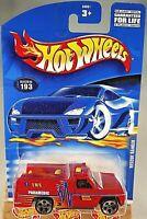 1997 Vintage Hot Wheels Collector #601 COMMANDO Dark Red w//Gear Spoke Wheels