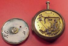 Vintage 56mm Fusee Silver Bell Strike 1/4 Repeater L Humbert Girard 4 REPAIRS