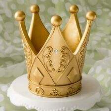 """1 Ornate Gold Crown Themed Table Centerpiece Favor 6"""" Tall Cake Topper"""