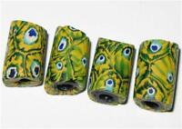 4 Fine old Venetian Antique Millefiori African Glass Trade beads