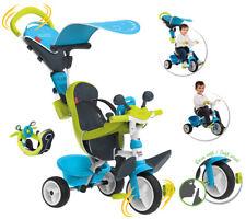 Smoby Dreirad Baby Driver Komfort II mit Lenkstange und Sonnendach (Blau)