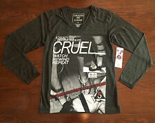 Casualties Of Summer V-Neck L/S Tee Mens Size S NWT