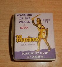 vintage WARRIORS OF THE WORLD marx  MAXIMUS ROMAN WARRIOR w/BOX+ CARD mint