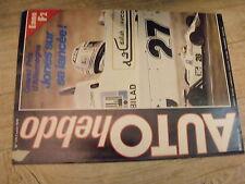 $$ Revue Auto Hebdo N°175 GP Allemagne  24h Spa  Rally Nouvelle-Zélande  Fiat