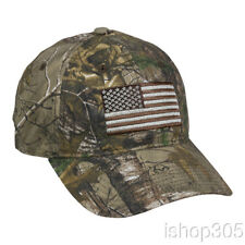 Realtree US Flag Hat Outdoor Hunting Cap Tactical Camouflage USA Hat