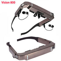 """Smart Android 4.4 WiFi Glasses 80"""" Wide Screen Video 3D Private Theater + Camera"""