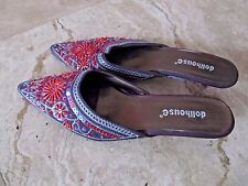 Womens size 8.5 Dollhouse sequined sandals, slides, 8 1/2