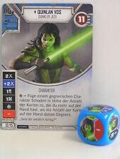 Star Wars Destiny - 1x #008 Quinlan Vos + cubo-azul-Imperio en Guerra
