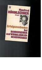 Manfred Köhnlechner - Erfolgsmethoden bei Bandscheiben- und Wirbelsäulen - 1977