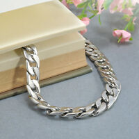 1.1New Silver Men's Stainless Steel Chain Link Bracelet Wristband Bangle Jewelry