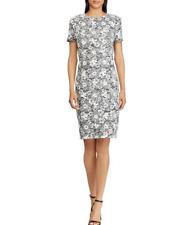 LAUREN RALPH LAUREN Womens Akinlana Velvet Bell Sleeve Cocktail Dress