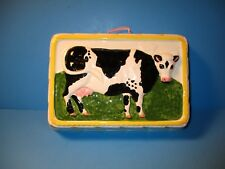 Vintage Ceramic Wall hanging Dairy Cow Andrea West For Sigma Jello Mold