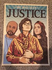 WE WHO SEEK JUSTICE 18x24 OFFICIAL AMPLIFIER.ORG ART PRINT POSTER WE THE PEOPLE!
