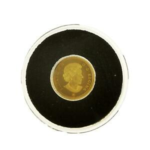 2010 Gold Coin, 25 Cents Caribou, Fine Gold, 0.5g