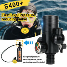 Black S400+ First Level Pressure Reducing Valve Use With 1L Oxygen Cylinder