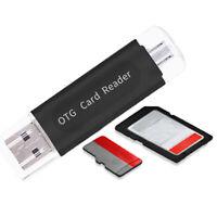 Adaptador lector de tarjeta de memoria otg usb 2.0 multifuncional tf flash móvil