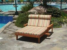 """Double Summer Chaise Lounge with Cushion 30""""H x 45""""W x 72""""L"""