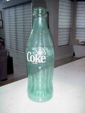 """20"""" TALL VINTAGE COKE COCA COLA GREEN GLASS DISPLAY BOTTLE EXCELLENT"""