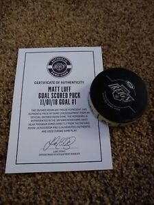 Ontario Reign AHL Hockey Goal Puck - Matt Luff - Los Angeles Kings