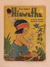 VINTAGE Hiawatha Picture Book - Whitman 1938 Walt Disney