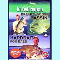 Breakthrough Bassin' / Hardbait for Bass - NEW DVD with the In-Fisherman Staff