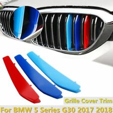 3x M Front Kidney Grille Grill Strip Cover Trim For BMW 5 Series G30 2017-2018