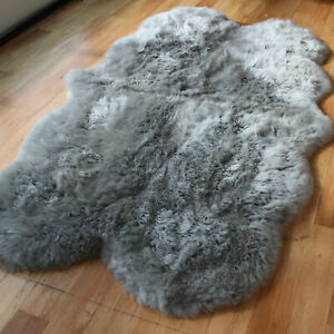 Large Genuine Quad Sheepskin Rug - Extra Thick & Soft Wool - Various Colours