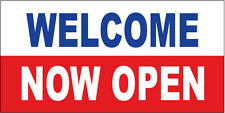 Welcome Now Open Vinyl Banner Sign 2X3 ft - wb