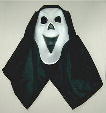 Maske Scream Schrei mit Kapuze Halloween Deko Kostüm Dämon Karneval