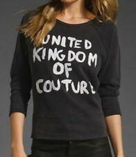 JUICY COUTURE UNITED KINGDOM OF COUTURE PULLOVER SWEATSHIRT SIZE SMALL
