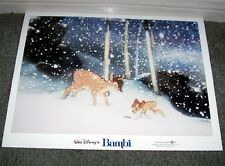 BAMBI original DISNEY lobby card movie poster 11x14