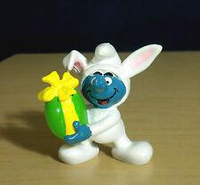 Smurfs White Bunny Suit Easter Egg Smurf Figure 1982 Vintage Toy Figurine 20496