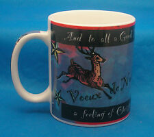 Starbucks VOEUX de NOEL Deborah Reinhart Coffee Mug Tea Cup TO ALL A GOOD NIGHT