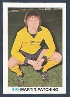 FKS 1977/78 SOCCER STARS- #385-WOLVERHAMPTON WANDERERS-MARTIN PATCHING
