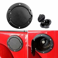Black Fuel Door Gas Cap Lid Cover For 2007-2018 Jeep Wrangler JK