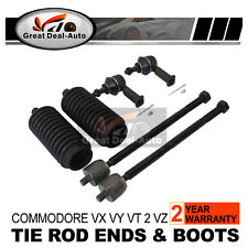 VX VY Commodore Power Steering Rack Boots+Tie Rod Ends SET FOR Holden 1999-2004