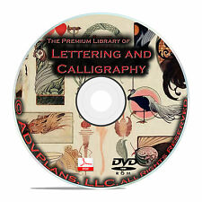 Lettering & Calligraphy, 164 Books, Vintage Sign Making Books Guides on DVD B69