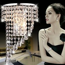 Modern Crystal LED Wall Sconces Bedroom Porch Hallway Lamp Hotel Lights Fixtures
