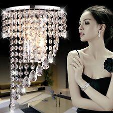 Modern Crystal LED Wall Sconces Bedroom Porch Hallway Lamp Hotel Lights Fixtures