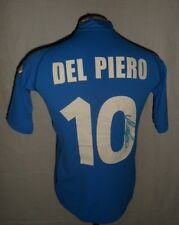 2000 ITALY Football Shirt Signed #10 DEL PIERO Autographed Soccer Jersey FIGC