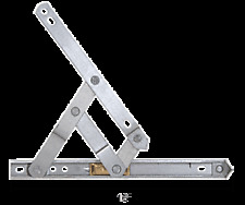 "CRL 16"" 4-Bar Heavy Duty Stainless Steel Friction Hinge"