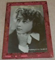 CHILD PRODIGY DIED AGE 26 SIGNED PHOTO FERRUCCIO BURCO CONDUCTOR ITALY AUTOGRAPH