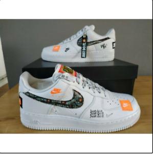 2021 Air Force1 1'07 Low JUST DO IT JDI  AR7719 100 Weiß Sneaker Gr:36-45-//