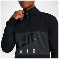 Nike sz M Men's AIR GRAPHIC 1/2 ZIP PULLOVER Printed Fleece Sweatshirt AV3019 10