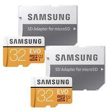 2X Samsung 32GB EVO 95MB/s MicroSD SDHC UHS-I Class 10 Memory Card adp